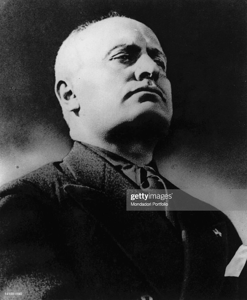 A portrait of the head of the Fascist government <a gi-track='captionPersonalityLinkClicked' href=/galleries/search?phrase=Benito+Mussolini&family=editorial&specificpeople=90389 ng-click='$event.stopPropagation()'>Benito Mussolini</a>. 1930s