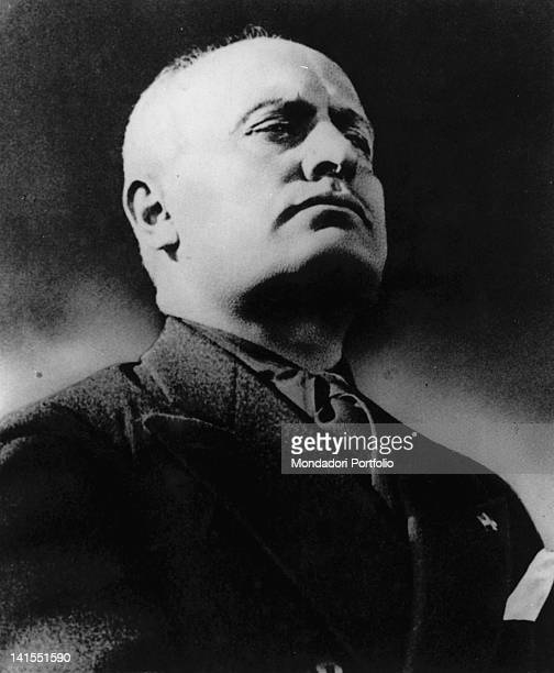 A portrait of the head of the Fascist government Benito Mussolini 1930s