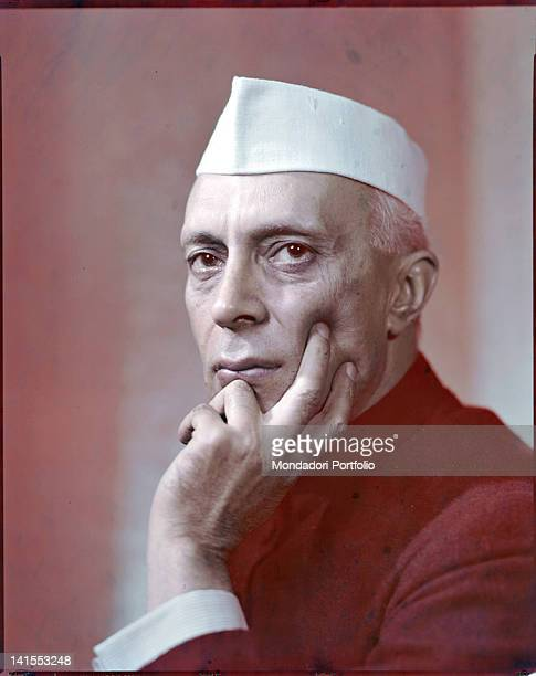 Portrait of the Indian Prime Minister Jawaharlal Nehru 1950s