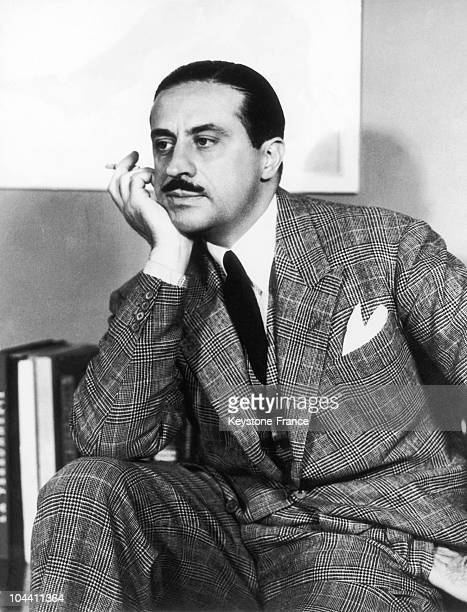 A portrait of the industrial designer Raymond LOEWY in New York on January 18 1939