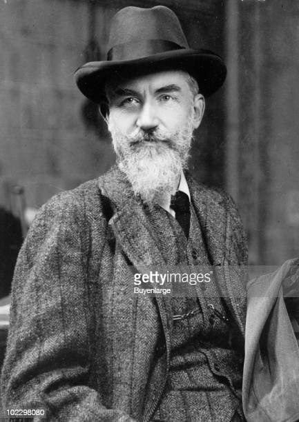 Portrait of the Irish playwright George Bernard Shaw November 1909