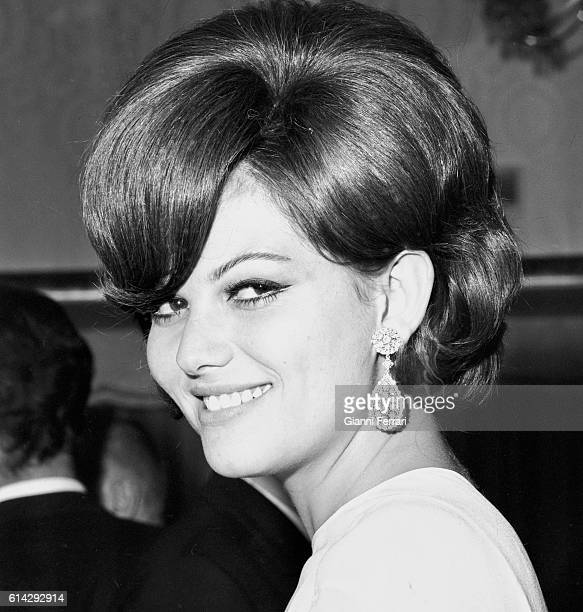 Portrait of the Italian actress Claudia Cardinale Madrid Spain