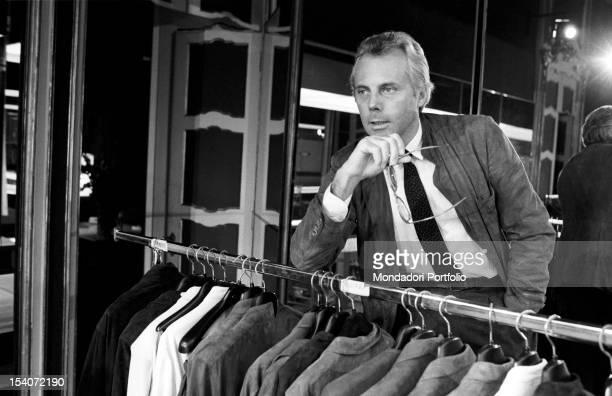 Portrait of the Italian designer Giorgio Armani Seventies