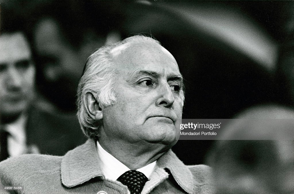 Portrait of the Italian politician Oscar Luigi Scalfaro 1980s