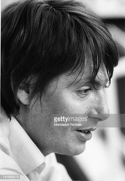 Portrait of the Italian singersongwriter Fabrizio De Andre 1970s