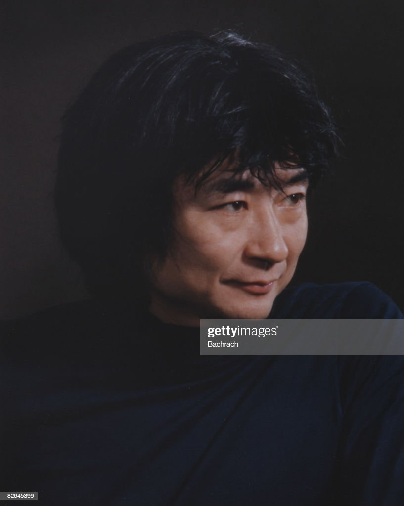 A portrait of the Japanese conductor Seiji Ozawa, the long-time director of the Boston Symphony Orchestra, Boston, Massachussetts, 1977.