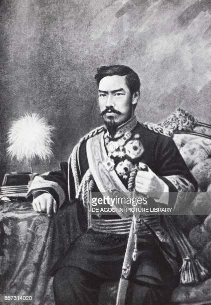 Portrait of the Japanese emperor Meiji in 1912