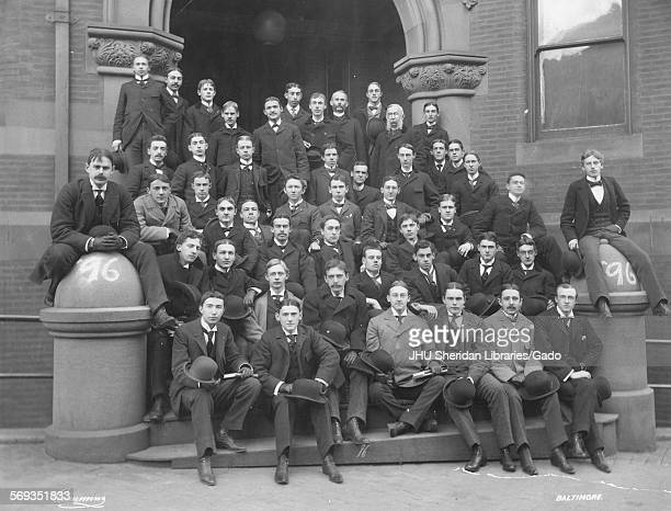 Portrait of the Johns Hopkins University Class of 1896 Baltimore Maryland 1896 Lacy Robert Powell Henry Todd Parker Henry Pickering Beatty Cornelius...