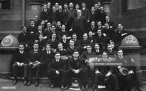 Portrait of the Johns Hopkins University Class of 1902 Baltimore Maryland 1902 Hill Eben Charles Campbell John Gorsuch Beasley Edward Bailey...