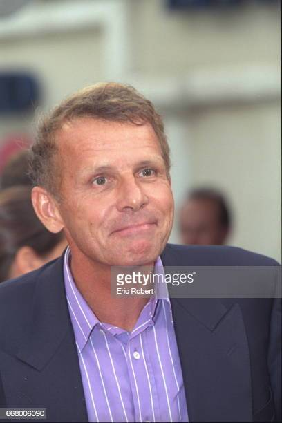 Portrait of the journalist Patrick Poivre d'Arvor as he arrived to attend the screening of the film by Steven Spielberg at the Deauville American...