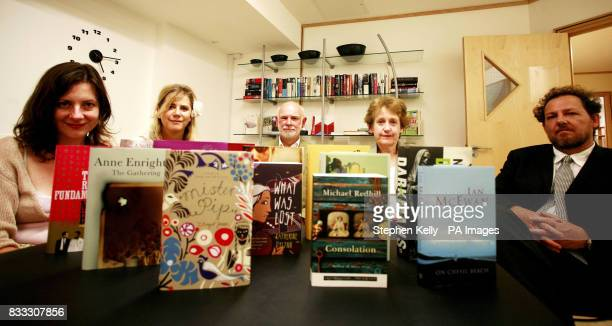 Portrait of the judges for the Booker Prize long list meeting which took place today in Goodge Street central London