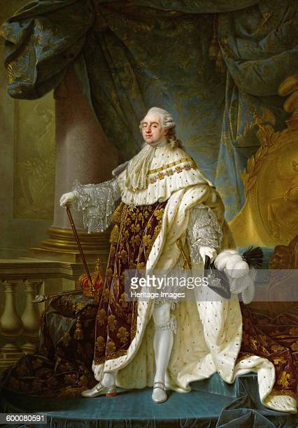 Portrait of the King Louis XVI in his Coronation Robes 1779 Found in the collection of Ambras Castle Innsbruck Artist Callet AntoineFrançois