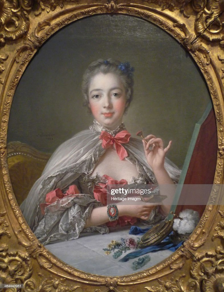 Portrait of the Marquise de Pompadour 1750 Found in the collection of the Fogg Art Museum Cambridge