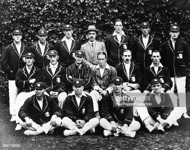Portrait of the MCC Cricket Team Arthur Dolphin John Hitch Charles Parker Frederick Toone Frank Woolley A C Russell and Abe Waddington Herbert...