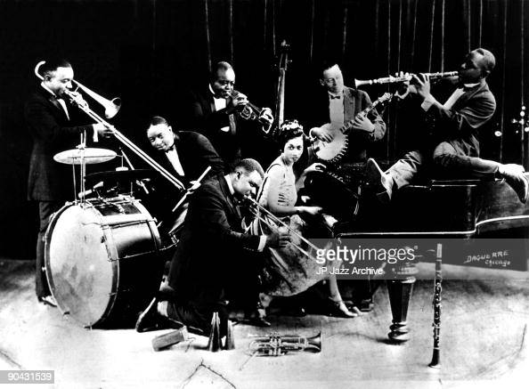 King Oliver With Louis Armstrong : News Photo