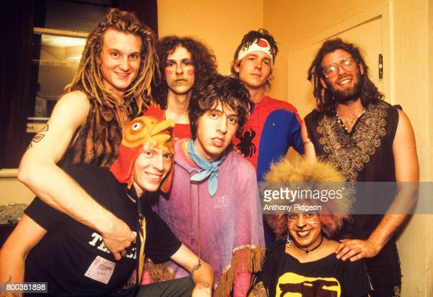 Portrait of The Moldy Peaches backstage at The Fillmore in San Francisco California USA on 16th October 2001