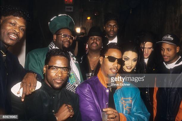 Portrait of the musical group The New Power Generation the backup band for the singer Prince ca1990s United States