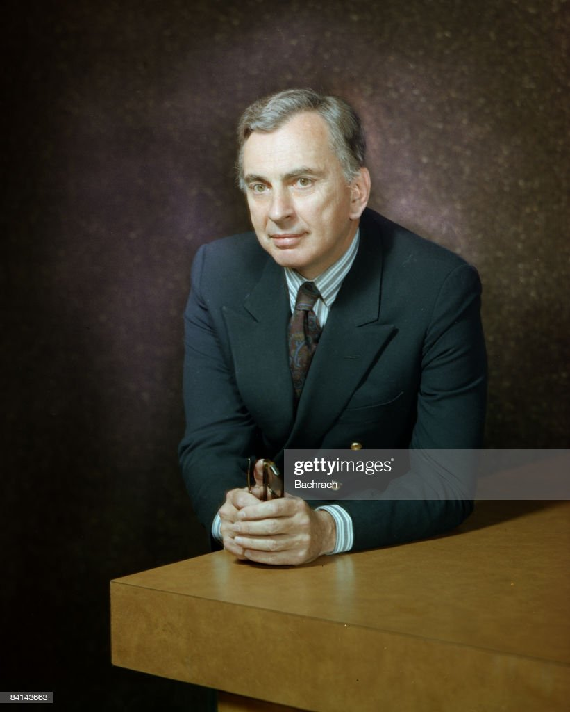 Portrait of the novelist Eugene Luther Vidal Jr. (b.1925) better known as Gore Vidal, 1977. Boston, Massachussetts.