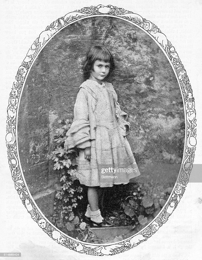 Portrait of the original Alice in Wonderland, <a gi-track='captionPersonalityLinkClicked' href=/galleries/search?phrase=Alice+Liddell&family=editorial&specificpeople=977449 ng-click='$event.stopPropagation()'>Alice Liddell</a>. Photograph. BPA
