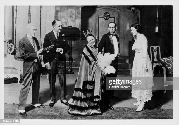 Portrait of the original cast of the George Gershwin musical 'La La Lucille' in costume Clarence Harvey Alfred Hall Eleanor Daniels John Hazzard and...