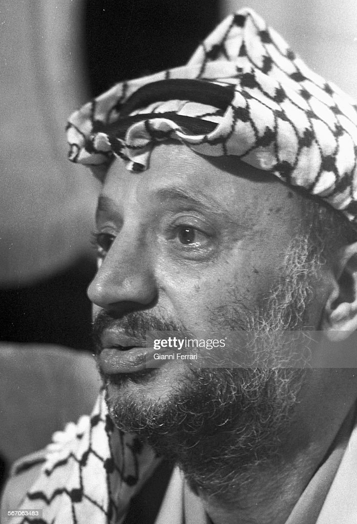 Portrait of the Palestinian leader Yasser Arafat, 1979, Madrid, Spain. (Photo by Gianni Ferrari/Cover/Getty Images).