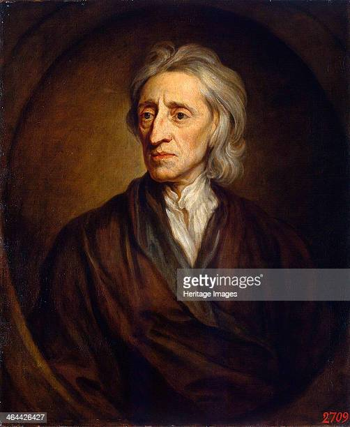 Portrait of the physician and philosopher John Locke' 1697 Kneller Sir Gotfrey Found in the collection of the State Hermitage St Petersburg