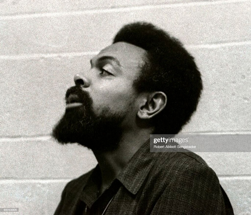 Portrait of the poet Amiri Baraka, formerly known as LeRoi Jones, in profile, Pittsburgh, PA, 1971.