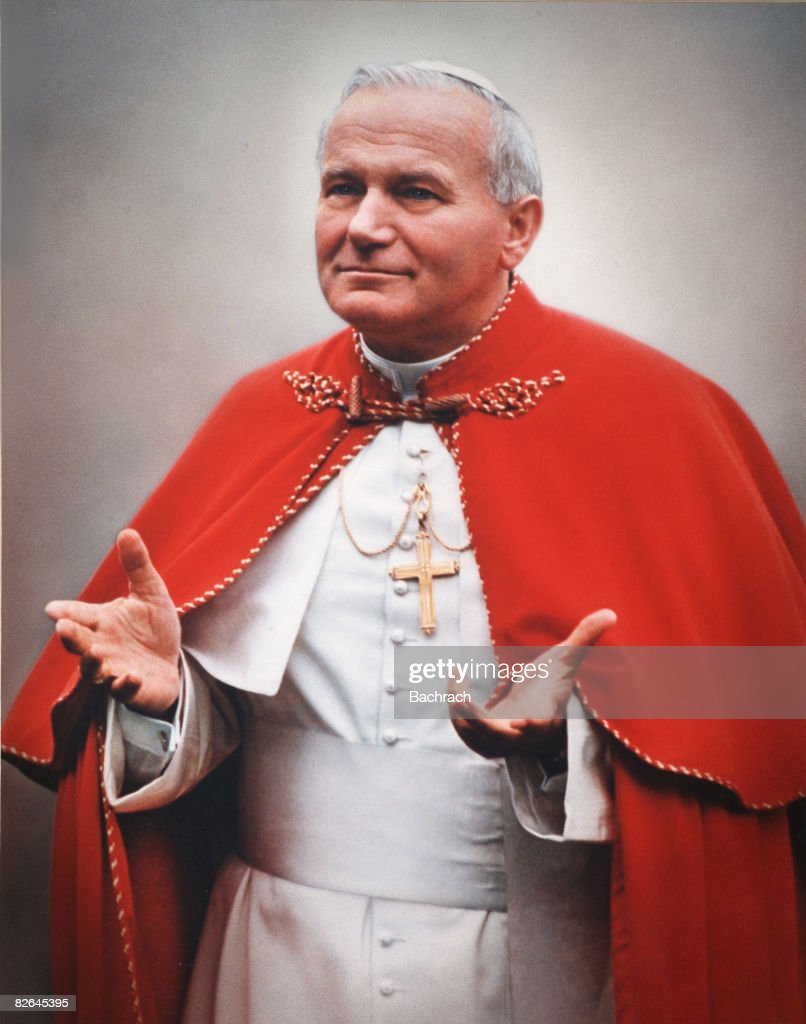 A portrait of the Polish Pope John Paul II (1920 - 2005), born Karol Wojtyla, Boston, Massachussetts, 1979.
