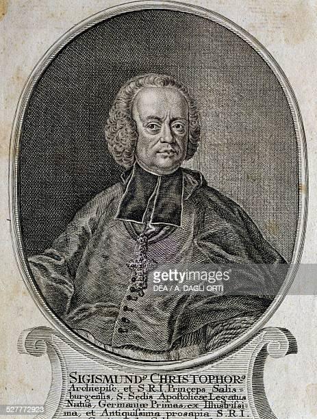 Portrait of the Prince Bishop Sigismund Graf von Schrattenbach bishop of Salzburg from 1753 to 1771 assuming Franz Joseph Haydn as the kapellmeister...