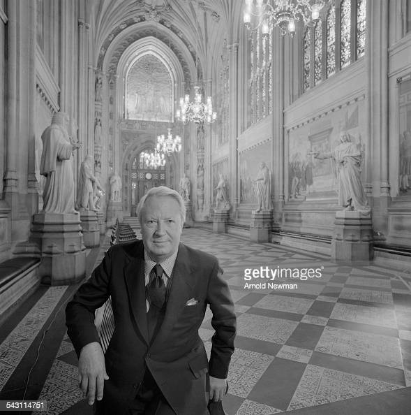 Portrait of the Right Honourable Edward Heath Prime Minister from 1970 1974 at Westminster London England November 2 1978