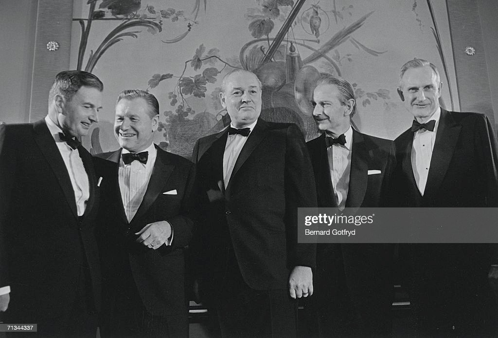 Portrait of the Rockefeller brothers, from left, David Rockefeller, <a gi-track='captionPersonalityLinkClicked' href=/galleries/search?phrase=Nelson+A.+Rockefeller&family=editorial&specificpeople=204575 ng-click='$event.stopPropagation()'>Nelson A. Rockefeller</a> (1908 - 1979), Winthrop Rockefeller (1912 - 1973), <a gi-track='captionPersonalityLinkClicked' href=/galleries/search?phrase=Laurance+Rockefeller&family=editorial&specificpeople=218133 ng-click='$event.stopPropagation()'>Laurance Rockefeller</a> (1910 - 2004), and John D. Rockefeller III (1906 - 1978), 1960s.