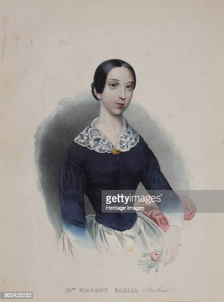 Portrait of the singer and composer Pauline Viardot 1840s Found in the collection of I Turgenev Memorial Museum Moscow