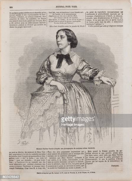Portrait of the singer and composer Pauline Viardot 1861 Found in the collection of I Turgenev Memorial Museum Moscow