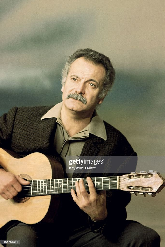 A Portrait Of The Singer <a gi-track='captionPersonalityLinkClicked' href=/galleries/search?phrase=Georges+Brassens&family=editorial&specificpeople=882384 ng-click='$event.stopPropagation()'>Georges Brassens</a>, In November 1968.