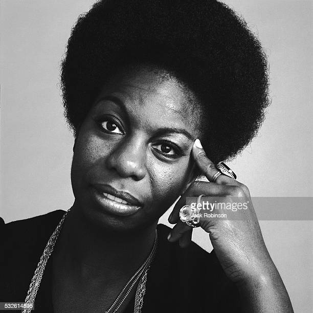 Portrait of the singer Nina Simone October 1969