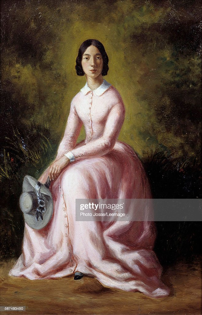 Portrait of the singer Pauline Viardot Painting by Maurice Sand 19th century Museum of the Romantic Life Paris