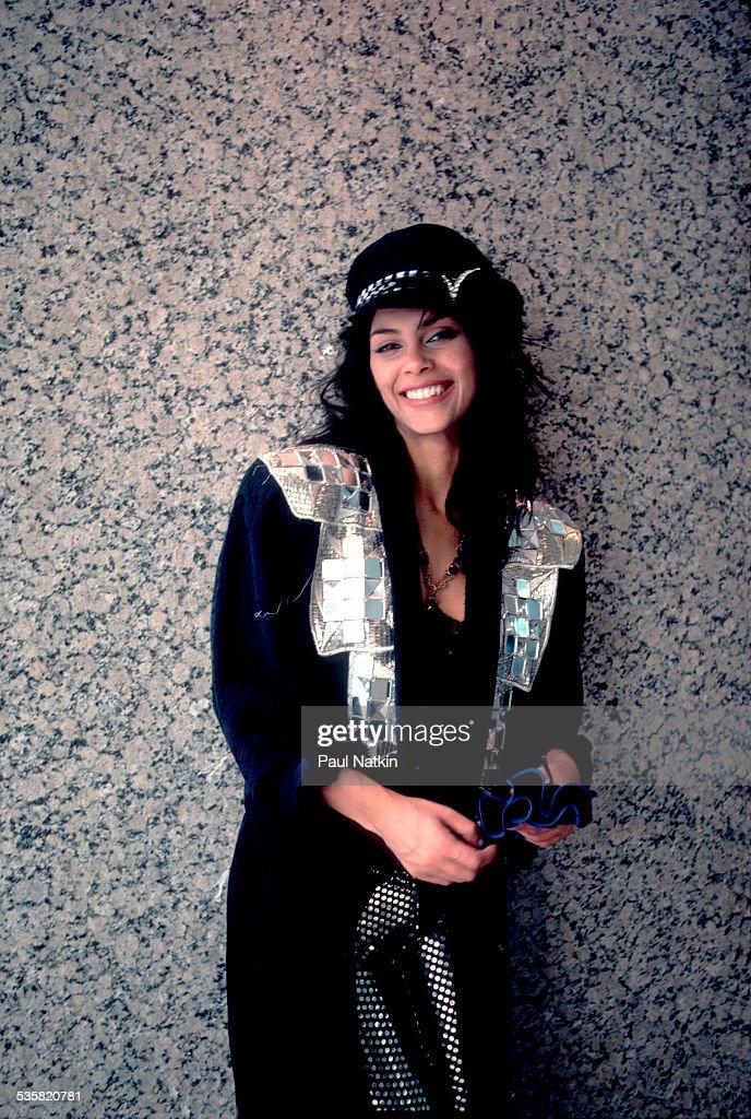 Portrait of the singer Vanity, Chicago, Illinois, April 3, 1986.
