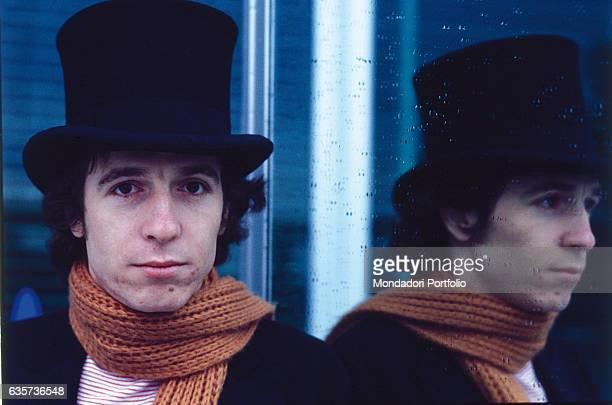 Portrait of the singersongwriter Rino Gaetano Italy 1978