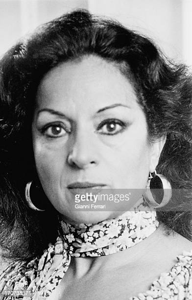 Portrait of the Spanish actress and singer Lola Flores Madrid Castilla La Mancha Spain