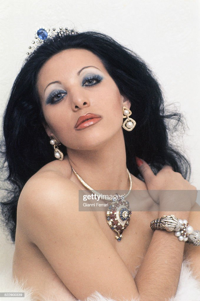 Portrait of the Spanish actress and singer Norma Duval Madrid Spain