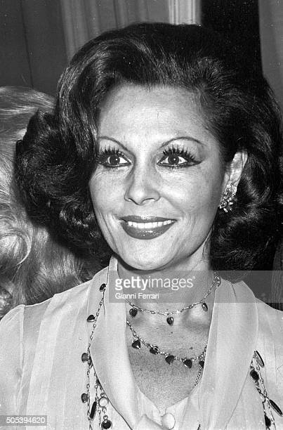 A portrait of the Spanish actress Paquita Rico Madrid Spain