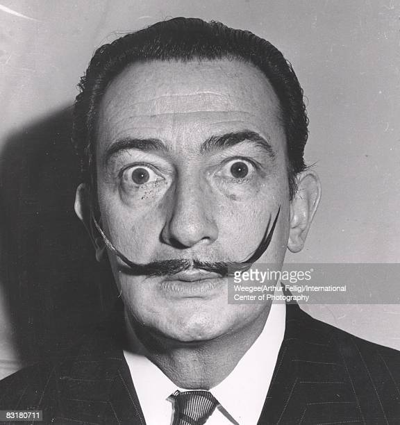 Portrait of the Spanish surrealist painter and sculptor Salvador Dali New York ca 1950s Photo by Weegee/International Center of Photography/Getty...
