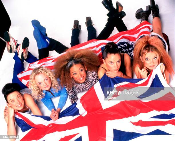 Portrait of the Spice Girls photographed in February 1997