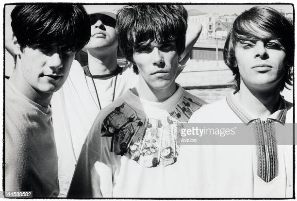 Portrait of The Stone Roses photographed in Manchester in July 1989 24203 Exclusive