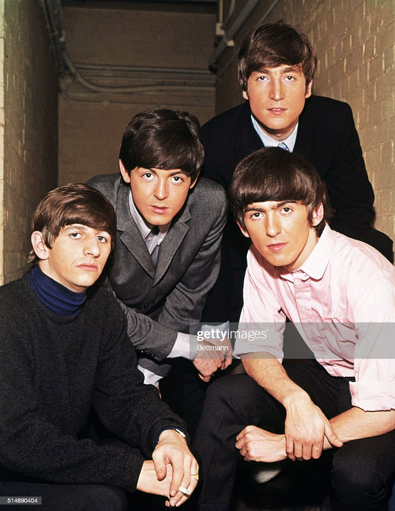 Portrait of the <a gi-track='captionPersonalityLinkClicked' href=/galleries/search?phrase=The+Beatles&family=editorial&specificpeople=90369 ng-click='$event.stopPropagation()'>The Beatles</a>. From left to right: <a gi-track='captionPersonalityLinkClicked' href=/galleries/search?phrase=Ringo+Starr&family=editorial&specificpeople=92463 ng-click='$event.stopPropagation()'>Ringo Starr</a>, <a gi-track='captionPersonalityLinkClicked' href=/galleries/search?phrase=Paul+McCartney&family=editorial&specificpeople=92298 ng-click='$event.stopPropagation()'>Paul McCartney</a>, <a gi-track='captionPersonalityLinkClicked' href=/galleries/search?phrase=John+Lennon&family=editorial&specificpeople=91242 ng-click='$event.stopPropagation()'>John Lennon</a>, and <a gi-track='captionPersonalityLinkClicked' href=/galleries/search?phrase=George+Harrison&family=editorial&specificpeople=90945 ng-click='$event.stopPropagation()'>George Harrison</a>.