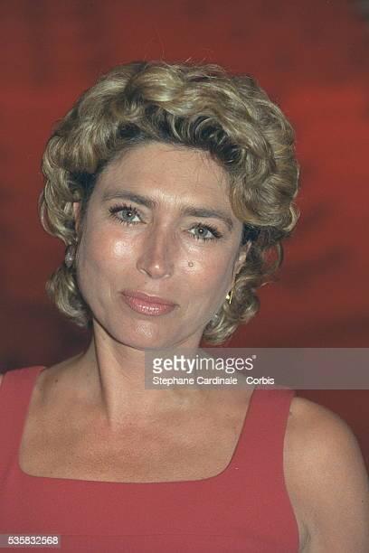 Portrait of the TV presenter MarieAnge Nardi
