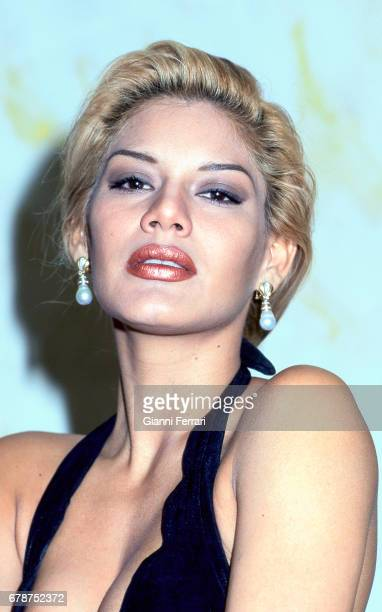 Portrait of the Venezuelan actress and presenter of Television Ivonne Reyes Madrid Spain
