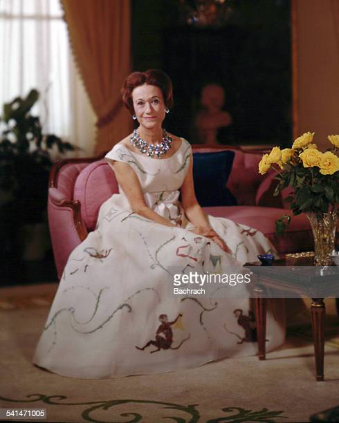 Portrait of the Wallis Duchess of Windsor mid 20th century
