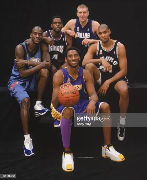 Portrait of the Western Conference starting lineup for the 51st AllStar Game Kevin Garnett Chris Webber Dirk Nowitzki Tim Duncan and Kobe Bryant at...