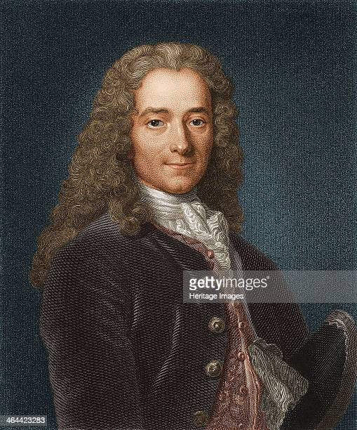 Portrait of the writer essayist and philosopher Francois Marie Arouet de Voltaire 1730s Found in the collection of the Russian State Library Moscow